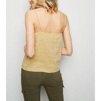 Yellow Linen Blend V Neck Cami New Look