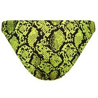 Yellow Neon Snake Print Bikini Bottoms New Look