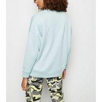 Mint Green Crew Neck Sweatshirt New Look