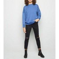 Bright Blue Crew Neck Sweatshirt New Look