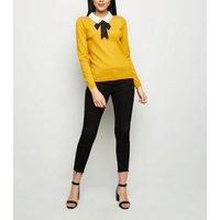 blue-vanilla-mustard-diamant-collar-bow-front-jumper-new-look
