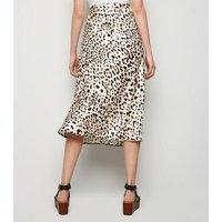 Brown Leopard Print Midi Skirt New Look
