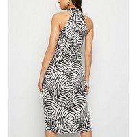 AX Paris Black Zebra Print Overlay Dress New Look