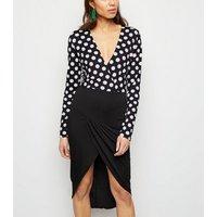 AX Paris Black 2 in 1 Polka Dot Dress New Look