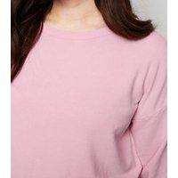 Curves Bright Pink Acid Wash Sweatshirt New Look