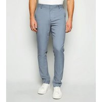 Pale Blue Skinny Suit Trousers New Look