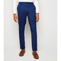 Bright Blue Skinny Suit Trousers New Look