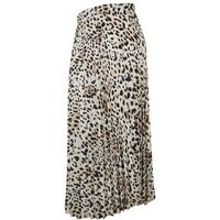 Maternity Brown Leopard Print Pleated Skirt New Look