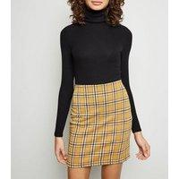 Tall Yellow Check Print Tube Skirt New Look
