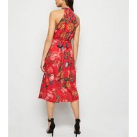 AX Paris Red Floral Overlay Dress New Look