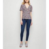 White Leopard Print Frill Trim Short Sleeve Shirt New Look
