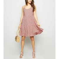 Pink Ditsy Floral Tiered Sundress New Look