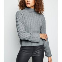 cameo-rose-grey-ribbed-high-neck-jumper-new-look