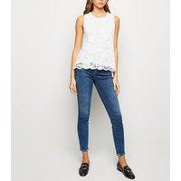 White Scallop Edge Lace Vest Top New Look