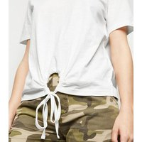 JDY White Ring Front T-Shirt New Look