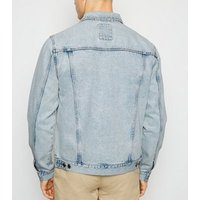 Pale Blue Bleach Wash Denim Jacket New Look