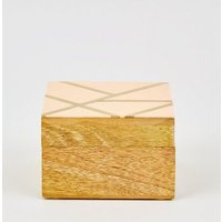 Pale Pink Square Storage Box New Look