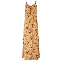 Tall Mustard Tropical Print Maxi Dress New Look