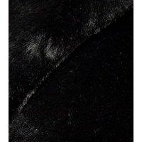 Petite Black Faux Fur Longline Coat New Look