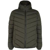 Khaki Long Sleeve Puffer Jacket New Look