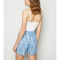 Blue Tie Dye Side Pocket Shorts New Look
