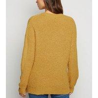 Maternity Mustard Longline Jumper New Look