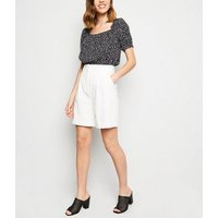 Black Spot Square Neck Crop Top New Look