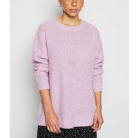 Petite Lilac Longline Knit Jumper New Look
