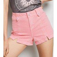 Pink Utility Denim Shorts New Look