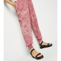 Maternity Red Paisley Joggers New Look