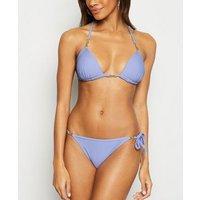 Lilac Hardware Moulded Triangle Bikini Top New Look