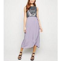 Lilac Wrap Midi Skirt New Look