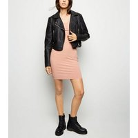 Pink Square Neck Bodycon Dress New Look