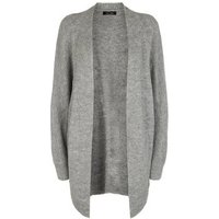 Grey Ribbed Knit Batwing Cardigan New Look