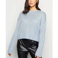 Pale Blue Crew Neck Jumper New Look