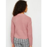 Girls Mid Pink Ribbed Knit Jumper New Look