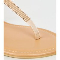 Wide Fit Stone Metal Studded Footbed Sandals New Look Vegan