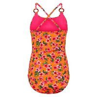 Girls Orange Floral Ring Strap Swimsuit New Look