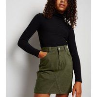 Girls Khaki Denim Skirt New Look