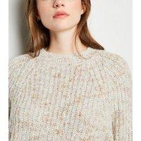 Cream Nep Knit Crop Jumper New Look