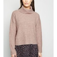 Mink Crop Roll Neck Jumper New Look