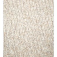 Cream Ribbed High Neck Jumper New Look