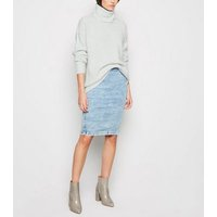 Pale Grey Slouchy Roll Neck Jumper New Look