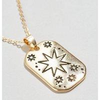 Gold Star Tarot Pendant Necklace New Look
