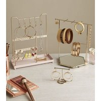 Pale Pink Tiered Jewellery Stand New Look