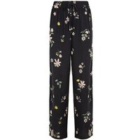 JDY Black Floral Wide Leg Trousers New Look