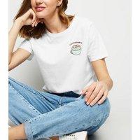 White Pusheen Coffee Slogan T-Shirt New Look