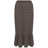 Curves Black Ditsy Floral Maxi Skirt New Look