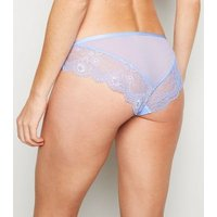 Pale Blue Lace Strappy Briefs New Look