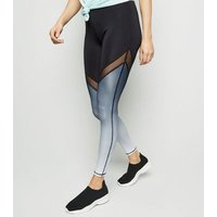 Black Ombré Sports Leggings New Look